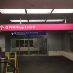 Pink Ramp and Green Ramp Sign