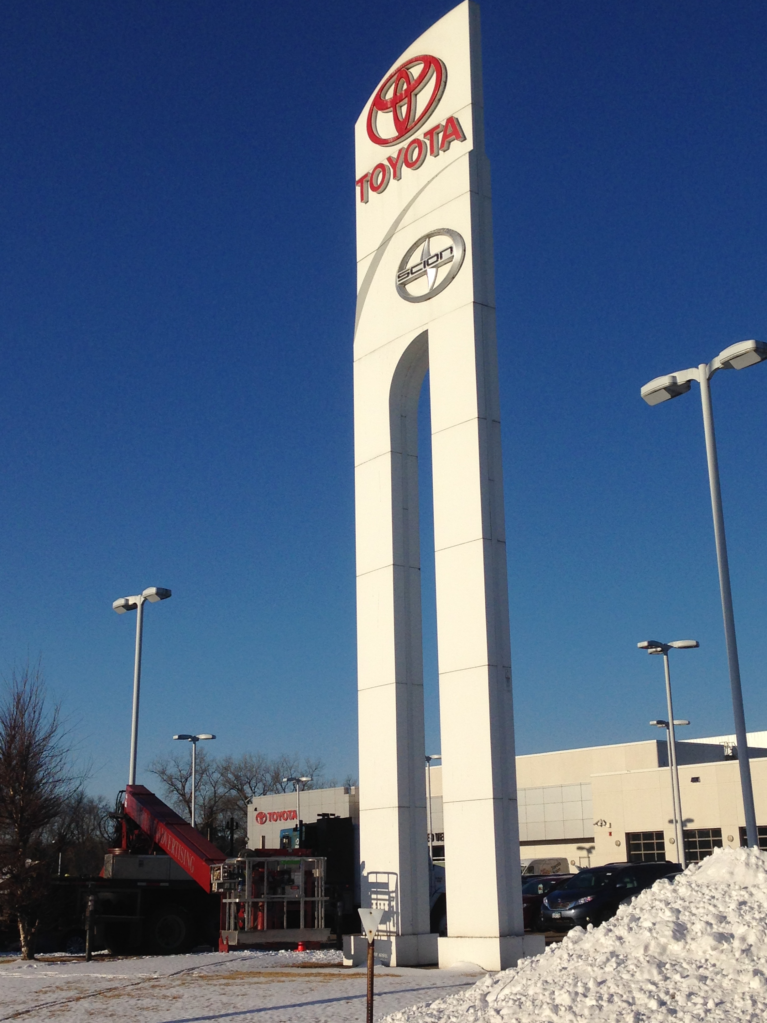 New Toyota Scion Sign