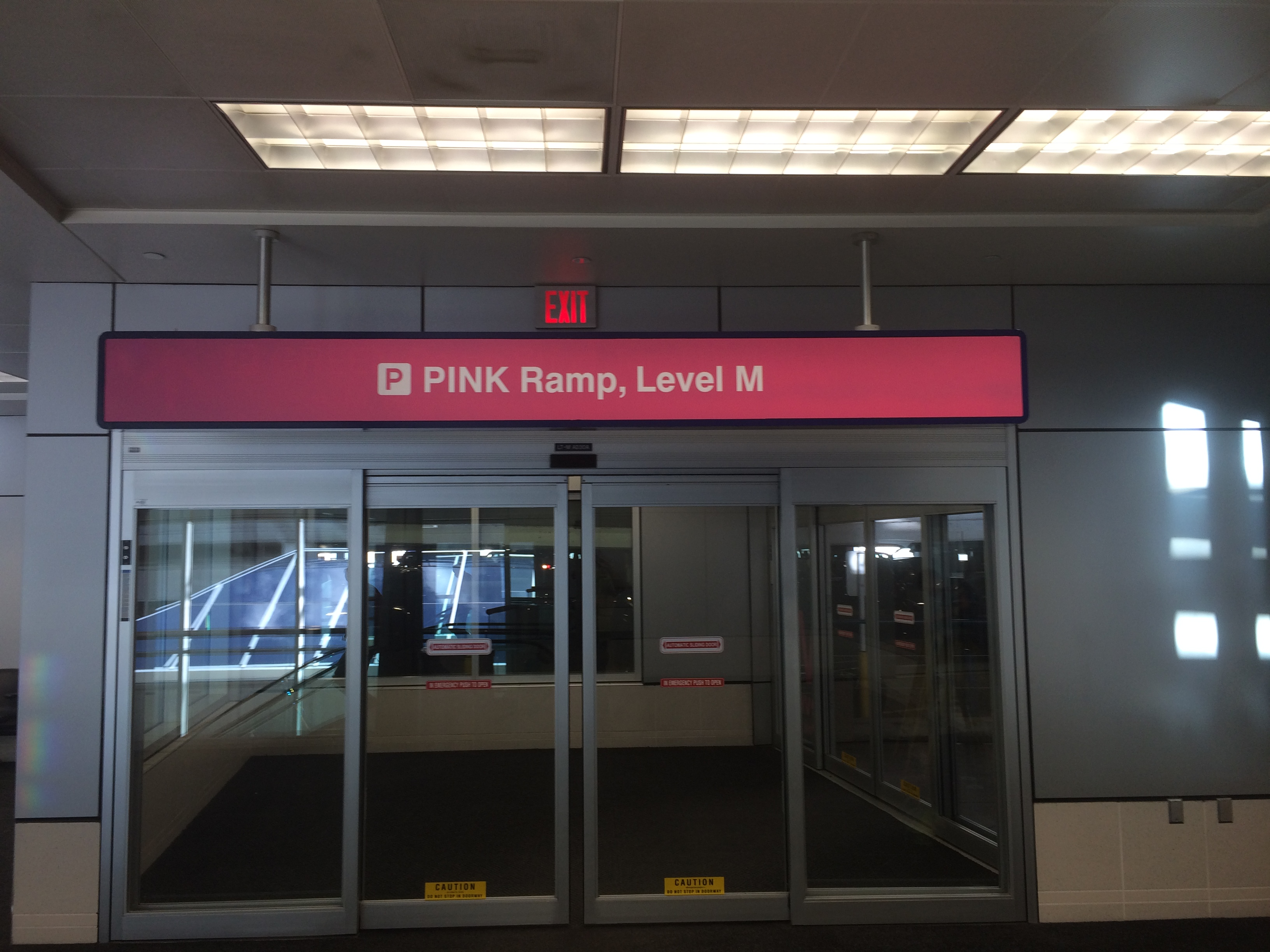 Pink Ramp, Level M Sign
