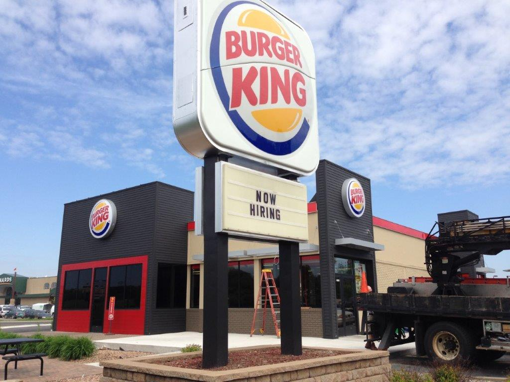 New Big Burger King Sign