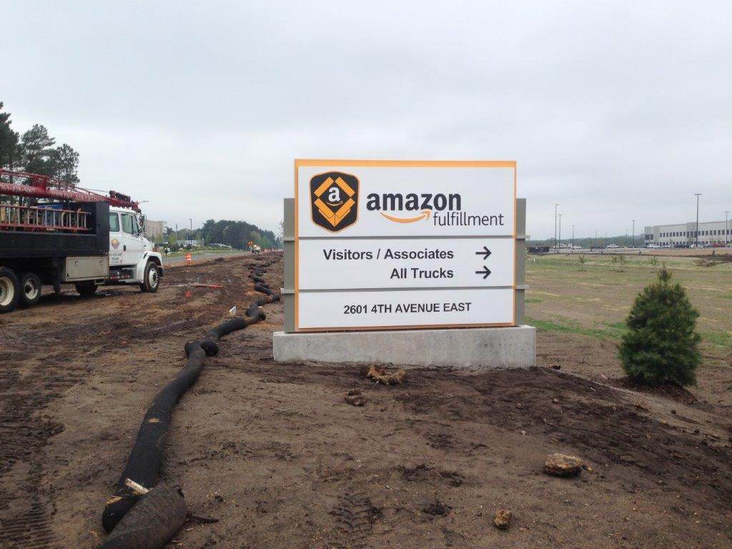 Amazon Fulfillment Direction Sign