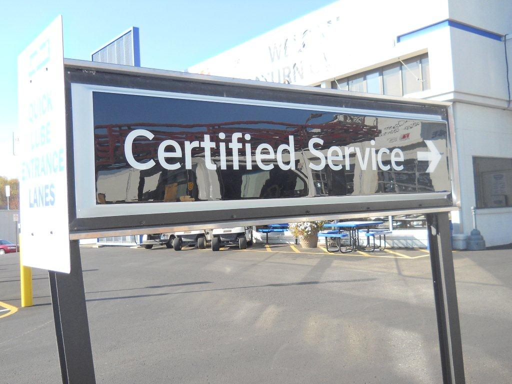 Certified Service Sign