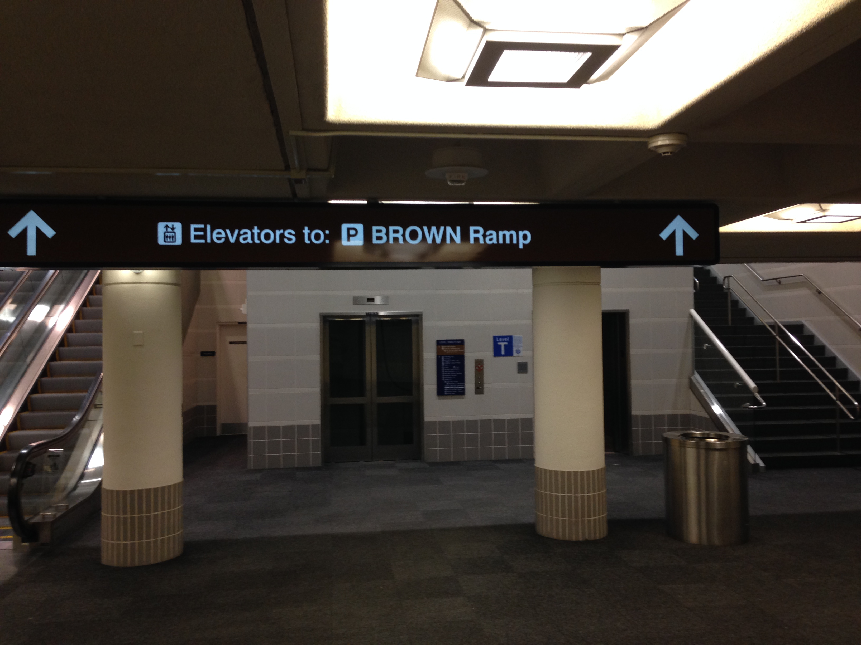 Elevators to: Brown Ramp