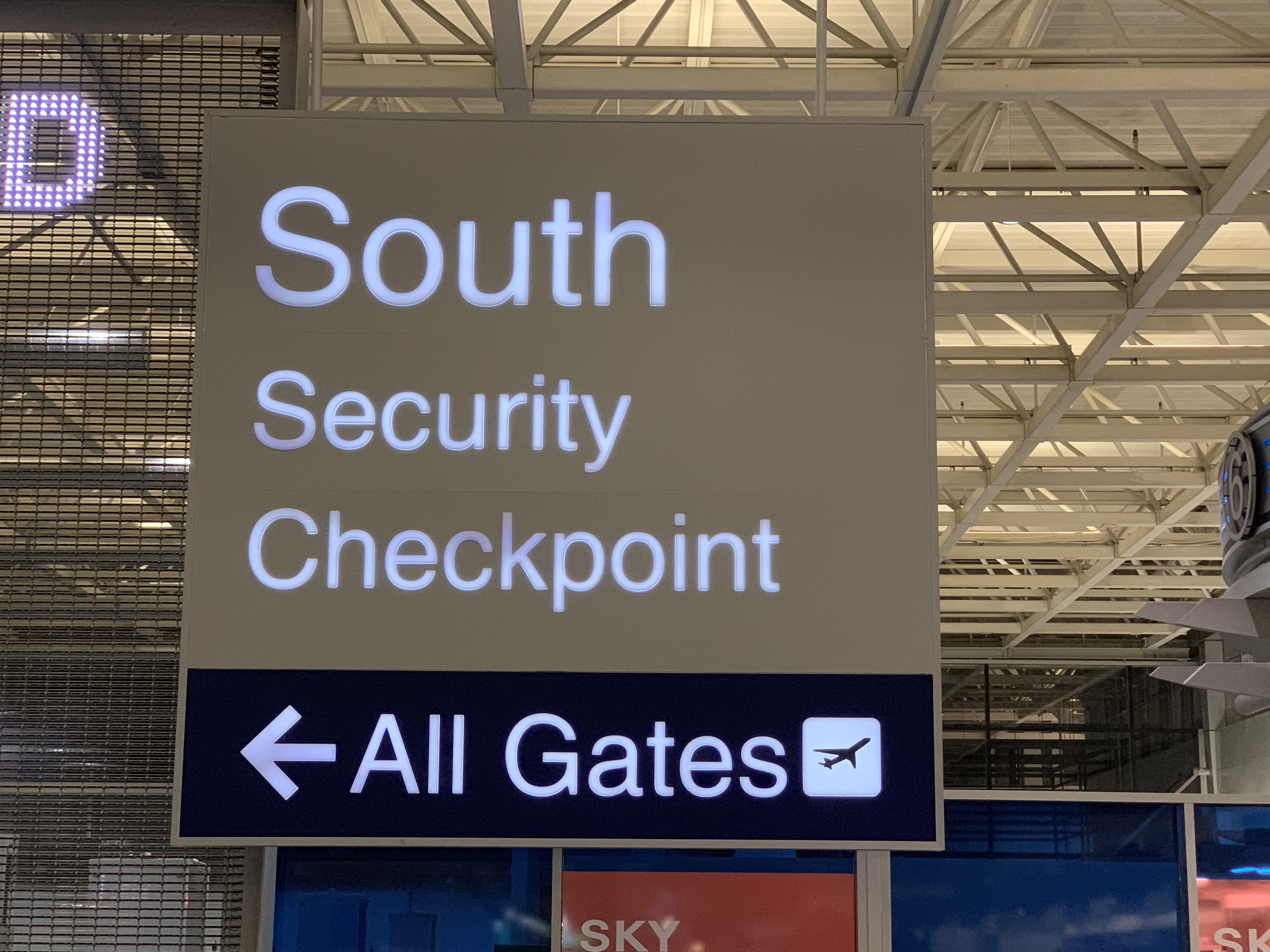 South security checkpoint